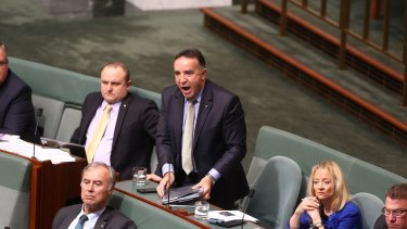 Andrew Nikolic in Parliament earlier this year.