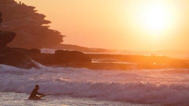 Sunrise at Tamarama.