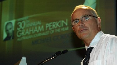 Michael Gordon won the 2005 Graham Perkin award for journalistic excellence.