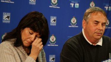 Ralph and Kathy Kelly speak to the media after the death of their son Thomas.
