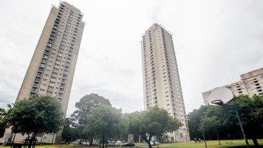 The Matavai and Turanga towers are among the six housing blocks comprising the Waterloo housing estate.