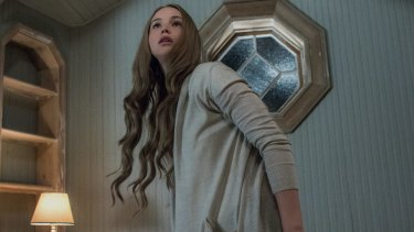 An unsteady hand-held camera follows Jennifer Lawrence and close-ups show her character's mounting unease in Darren Aronofsky horrific film.