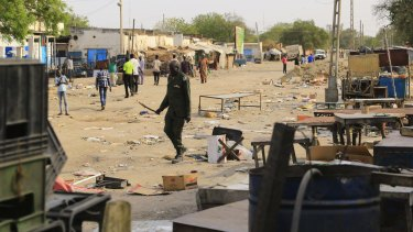 A file photo of the streets of Malakal, north of the South Sudanese capital of Juba. War and famine have engulfed South Sudan despite the optimism of independence in 2011.