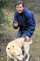 Noel Fitzpatrick with a four-legged truffle hunter in France.