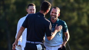 True sportsmanship: Justin Rose and and Sergio Garcia duelled with dignity.