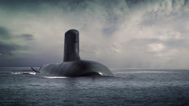 An artist rendering of the French submarine, Shortfin Barracuda, designed by the DCNS group.