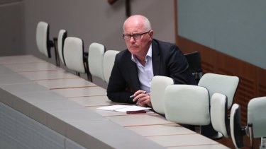Michael Gordon observes the House of Representatives at Parliament House, Canberra.