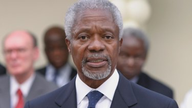 Former secretary-general of the United Nations Kofi Annan said the new Sustainable Development Goals would be a universal set of goals for all countries.