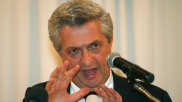 United Nations High Commissioner for Refugees Filippo Grandi at a press conference Bangkok, Thailand, on Friday.