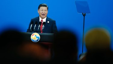 Chinese Chinese President Xi Jinping attends the opening ceremony of the Belt and Road Forum.