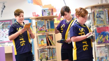 Park Ridge Primary School worked to get boys reading more for enjoyment.