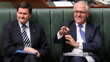 Kevin Andrews alongside Malcolm Turnbull when they were both on the front bench.
