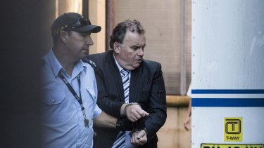 Glen McNamara leaves the NSW Supreme Court in February.
