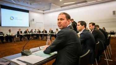 Environment and Energy Josh Frydenberg leads a COAG energy council meeting in October.