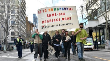The LGBTI community is largely opposed to the Turnbull government's policy of holding a plebiscite.