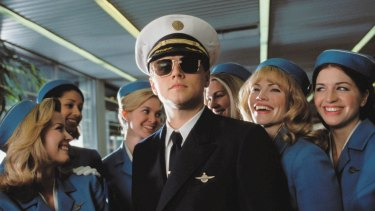 Leonardo DiCaprio plays a young man on the run from himself in 'Catch Me If You Can'.