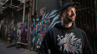 Money made from Ben Hoban's street-art inspired hoodies and T-shirts will go to help the homeless.