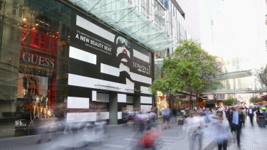 Stylish site: The new home of Sephora in Pitt Street Mall.