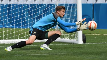 Injured: Goalkeeper Mitchell Langerak has a foot injury and won't join up with the Socceroos squad in Thailand.