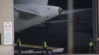 The plane carrying the five men arrived from Cairns on Thursday morning.