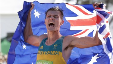 Dane Bird-Smith had to wait to celebrate his Olympic bronze medal with his dad