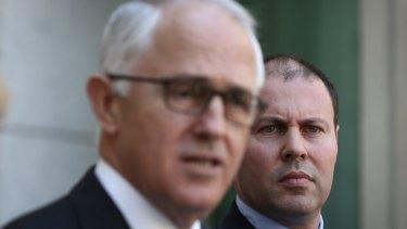 Energy Minister Josh Frydenberg with Prime Minster Malcolm Turnbull.