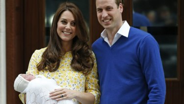 All in a day's work: Kate Middleton and Prince William with Charlotte Elizabeth Diana.