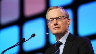 RBA governor Philip Lowe warns about the consequences of engaging in a company tax cut bidding war.