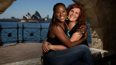 Founder of the climate action group 1 Million Women, Natalie Isaacs (right), and singer Deni Hines.