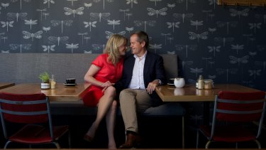 Bill Shorten with his second wife Chloe, whom he married in 2009.