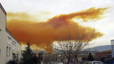 Residents were urged to stay indoors as the toxic cloud spread.