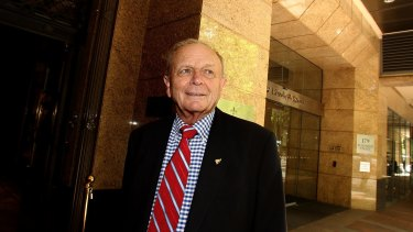 Harvey Norman boss Gerry Harvey before the company's AGM at the Tattersall's club.