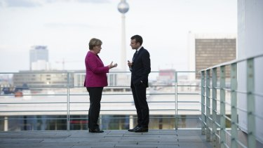 New world order: New French President Emmanuel Macron – a staunchly pro-Europe leader – and German Chancellor Angela Merkel are natural allies.