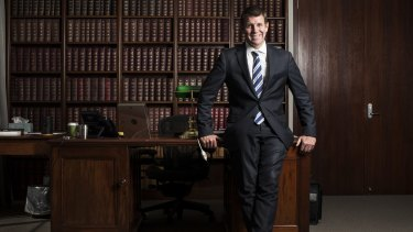 NSW Premier Mike Baird in his office at State Parliament.