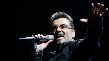 George Michael during his Live Global Tour.