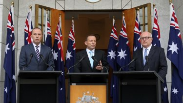 Wave, everybody: Abbott's 10-flag statement needed more wind than a windmill.
