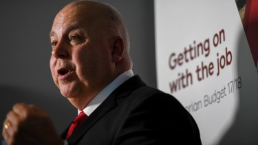 The stamp duty cuts formed part of Treasurer Tim Pallas' recent state budget.