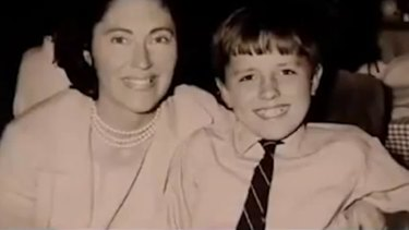 A young Malcolm Turnbull with his mother Coral Lansbury.