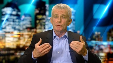 One Nation Senator Malcolm Roberts on The Project on Wednesday night.