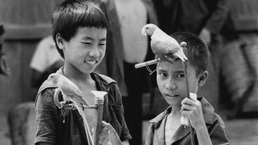Laotians from the Hmong tribe in a refugee camp in Thailand, July 1979.
