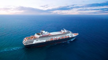 The man was arrested when he disembarked the Pacific Aria on Sunday.