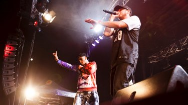 Bliss n Eso performing live in Sydney.