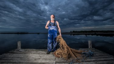 """Phil McAdam is the third generation of his family to work as a commercial fisherman in Port Phillip Bay: """"It's not a job, it's a way of life."""""""