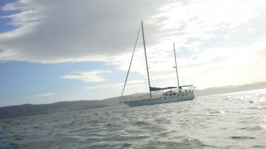 The yacht Four Winds was moored off Hobart in 2009.