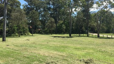 The park in Taigum where the young woman was sitting when she was assaulted.