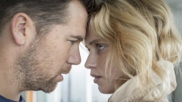 Missed a deserved nomination: Abbey Lee with Patrick Brammall in <i>Reuben Guthrie.</i>