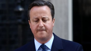 British Prime Minister David Cameron falling on his sword in the wake of the Brexit vote.
