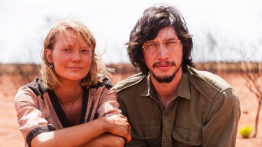 Mia Wasikowska and Adam Driver on the set of <I>Tracks</I>, another film to get the TWC seal of approval.