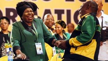 Competing candidates Nkosazana Dlamini-Zuma and Cyril Ramaphosa.