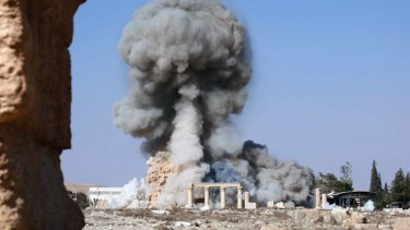 Islamic State has released pictures purporting to show  the destruction of the 2000-year-old Temple of Baalshamin in Syria's ancient city of Palmyra.